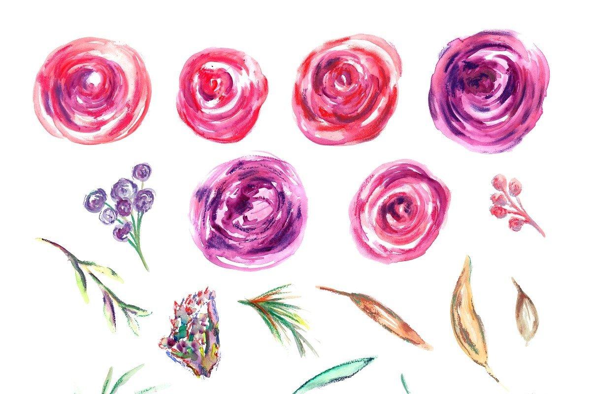 Nadila Watercolor Florals example image 2