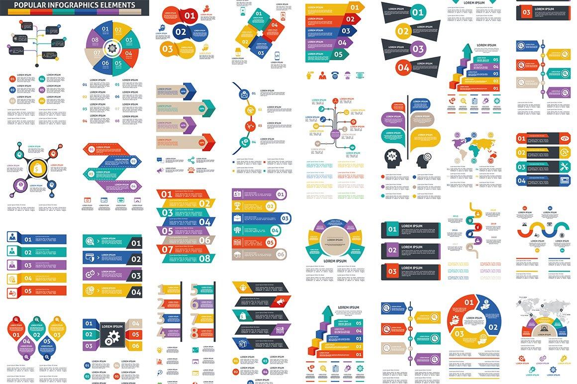 1000 Ultra Big Bundle Infographics Elements example image 11