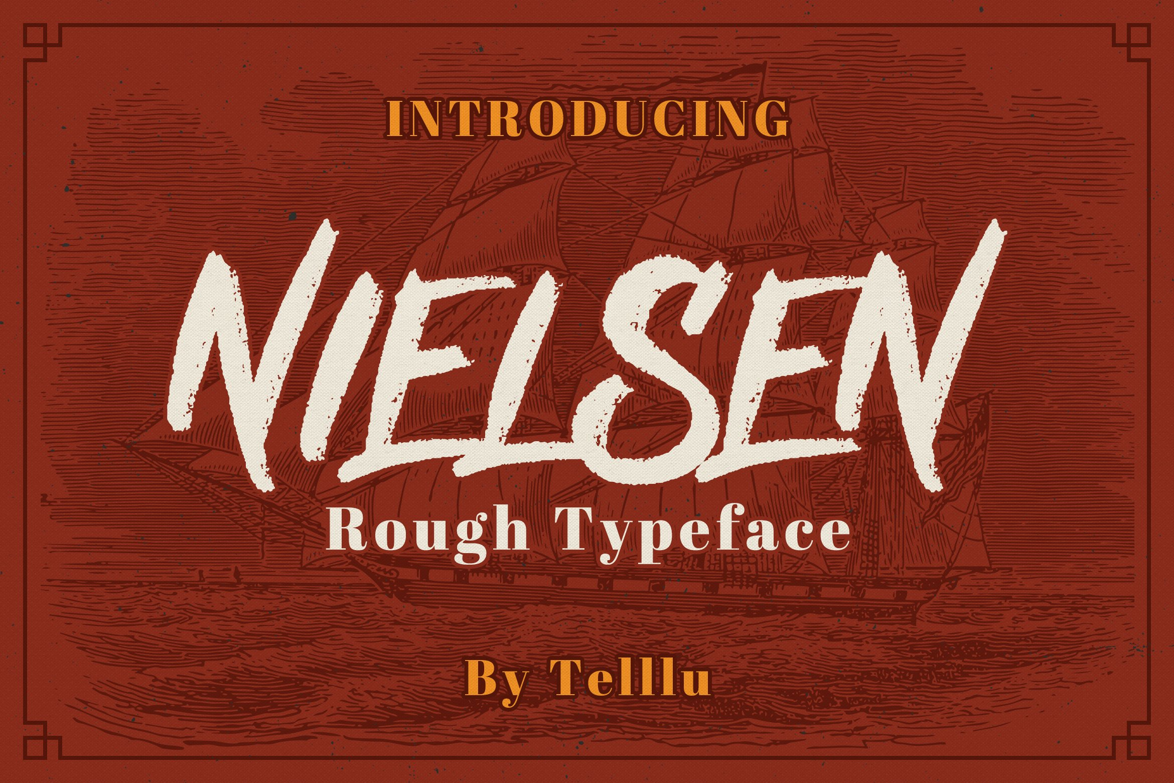 Nielsen Rough Typeface example image 1
