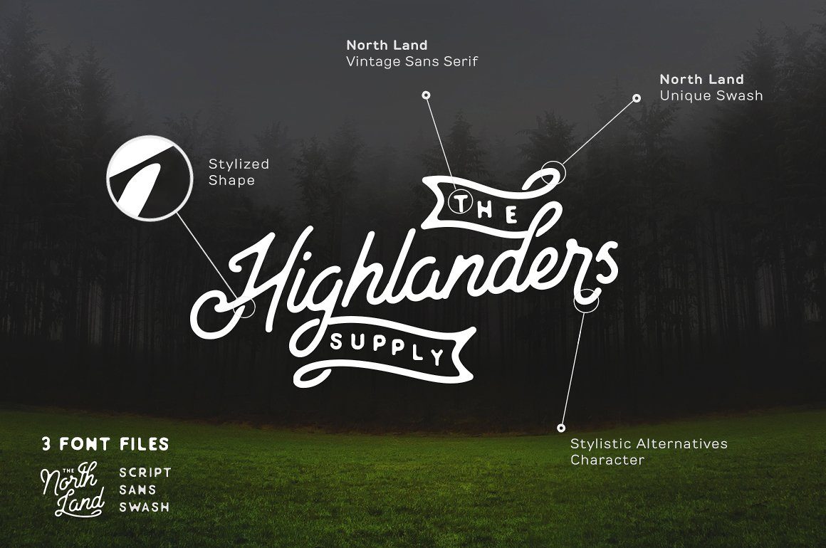 North Land Font Duo example image 7