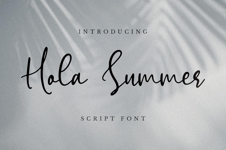 Hola Summer Font example image 4