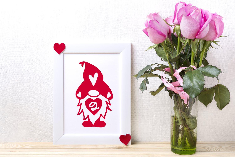 Gnomie Love - A Valentine's Day Monogram Font example image 2