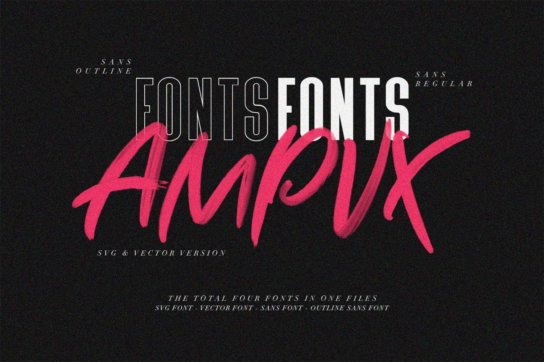 AMPVX SVG Brush Font Free Sans example image 2