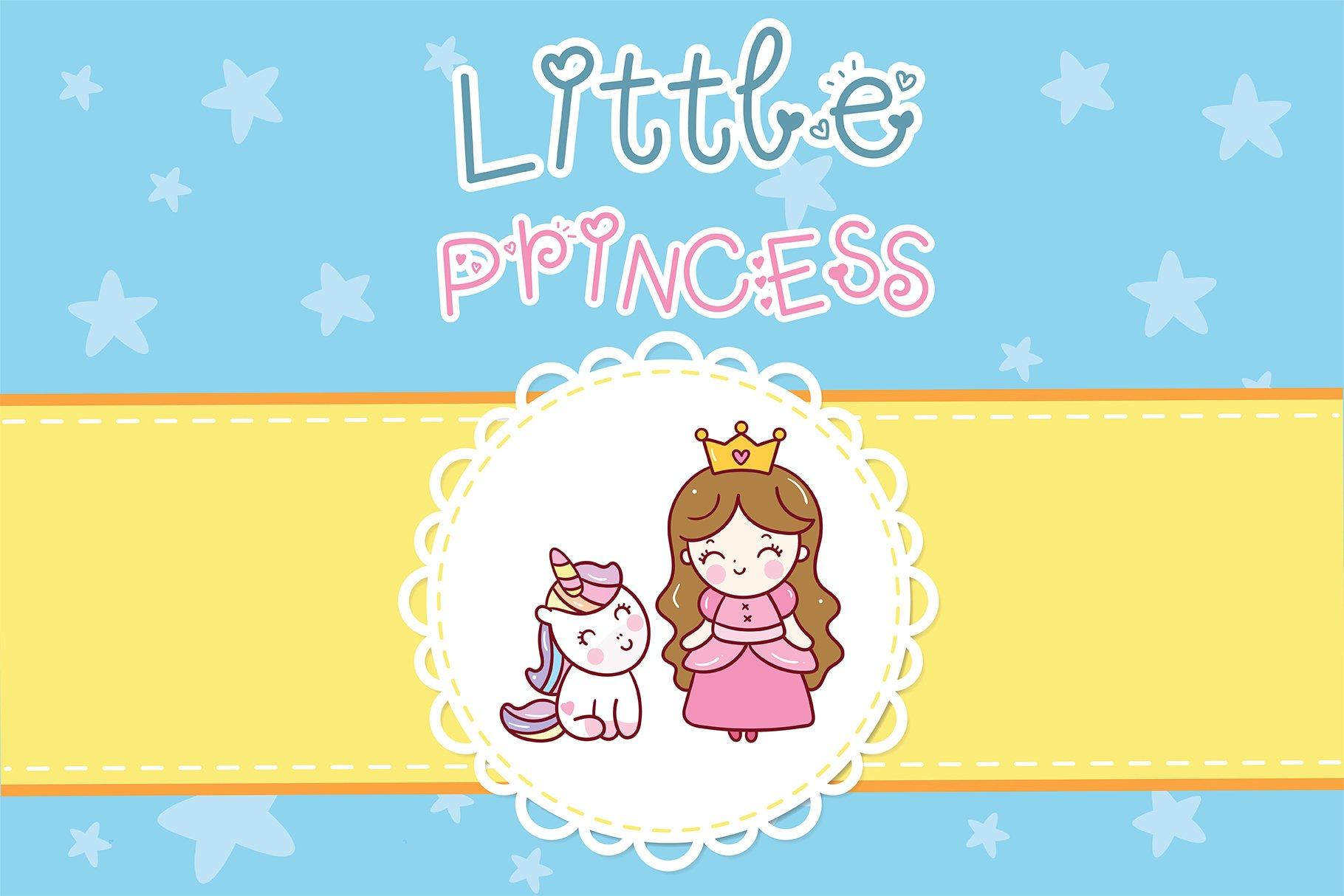 Unicorn princess Handwritten- Cute font Kawaii style example image 4