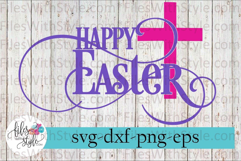 Happy Easter Cross Svg Cutting Files 214596 Svgs Design Bundles