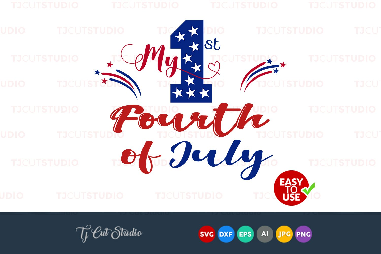 First Fourth Of July Svg My First 4th Of July 4th Of July Bow Svg Files For Silhouette Cameo Or Cricut Commercial Personal Use 94770 Cut Files Design Bundles