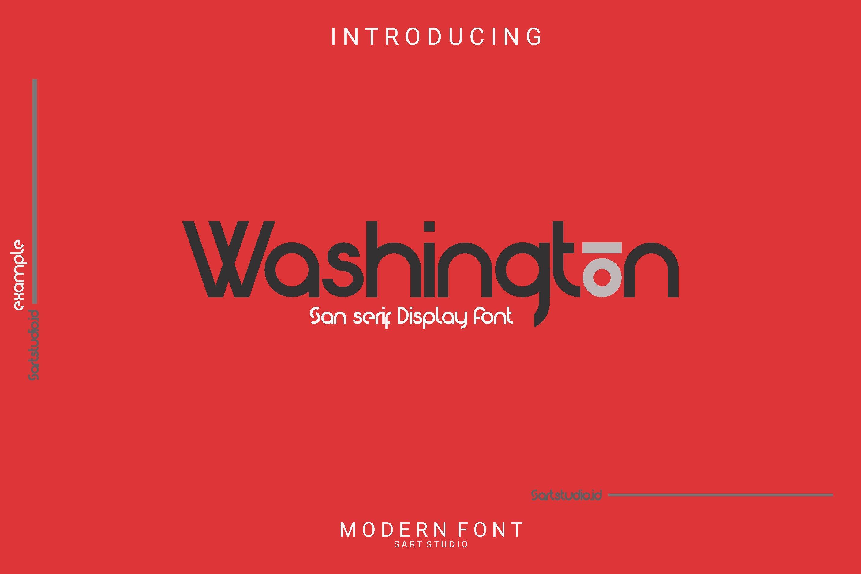 Washington - Modern Display Font example image 1