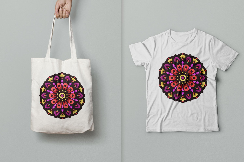 Colored Mandala Art 08 example image 2