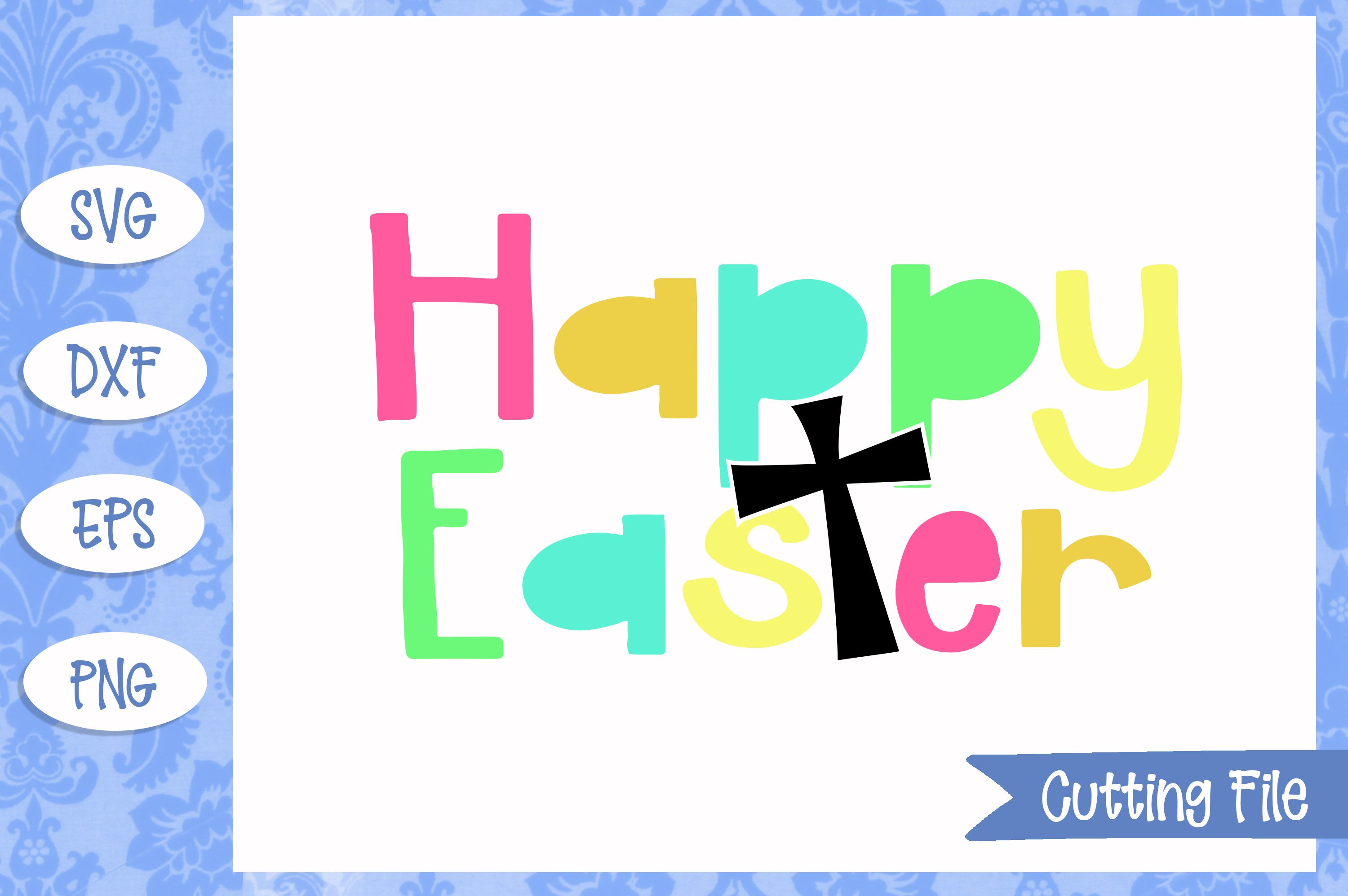 Happy Easter SVG File example image 1