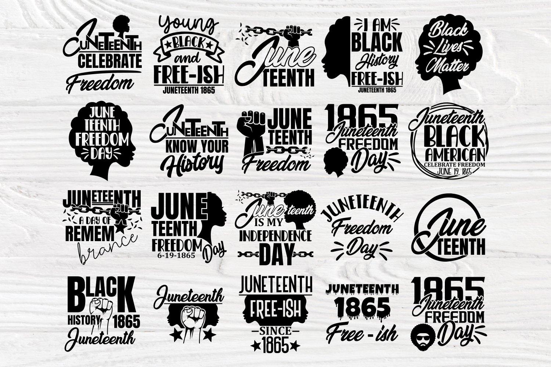 Black Lives Matter SVG Bundle, Juneteenth Svg, Black History example image 4
