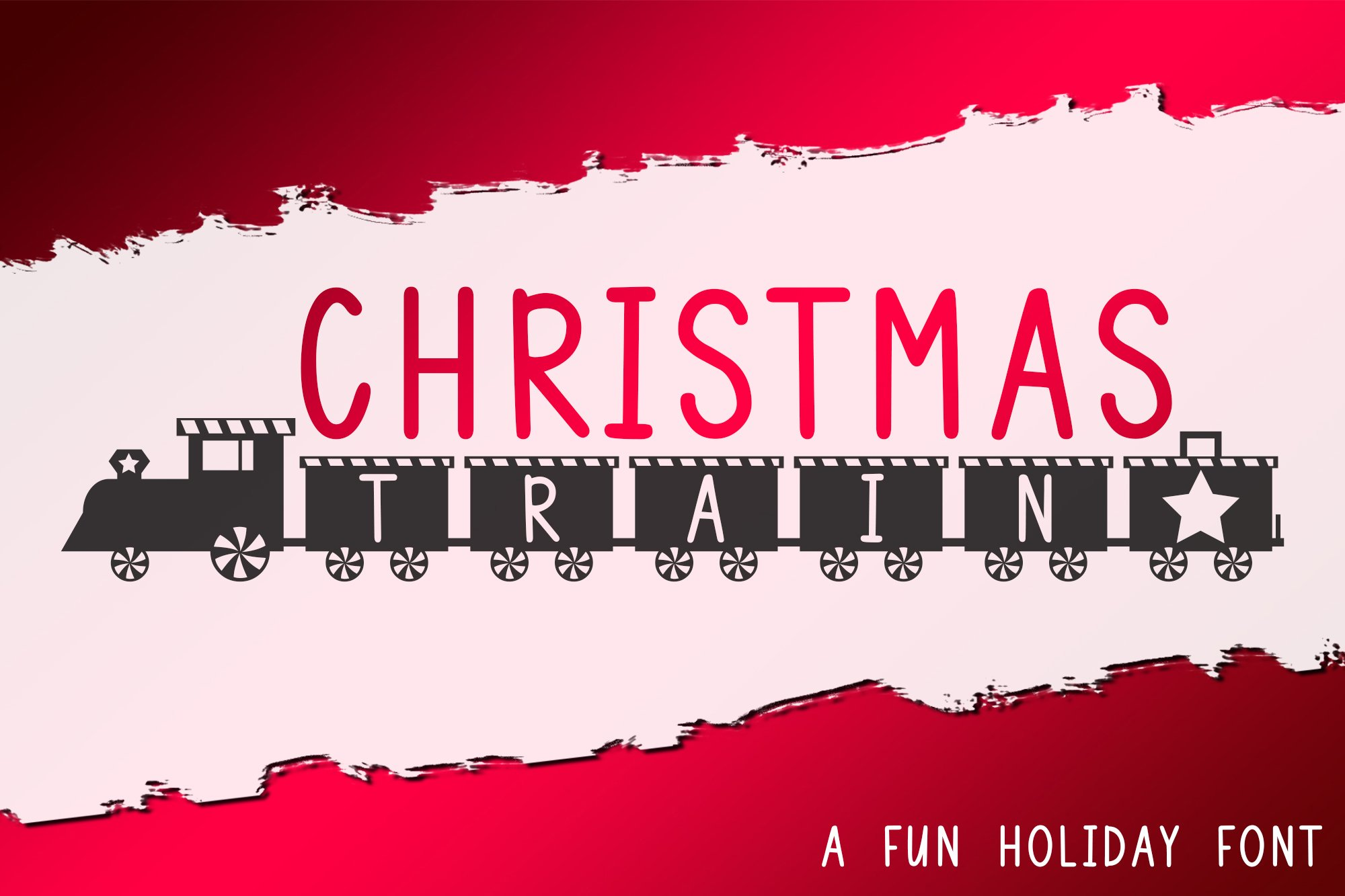 Christmas Train - A Fun Holiday Font example image 1