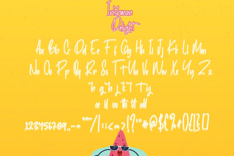 IrishmanDelight - Cute Fonts example image 4