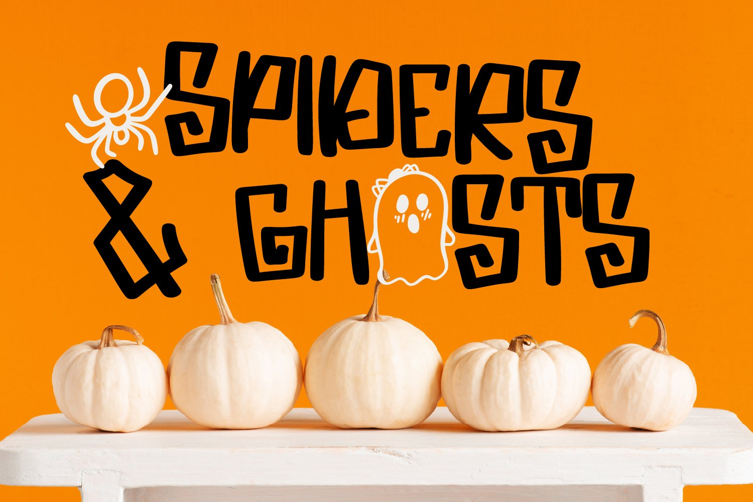 Spooky Dudes - A Scary Silly Halloween Font & Dingbat Duo! example image 2