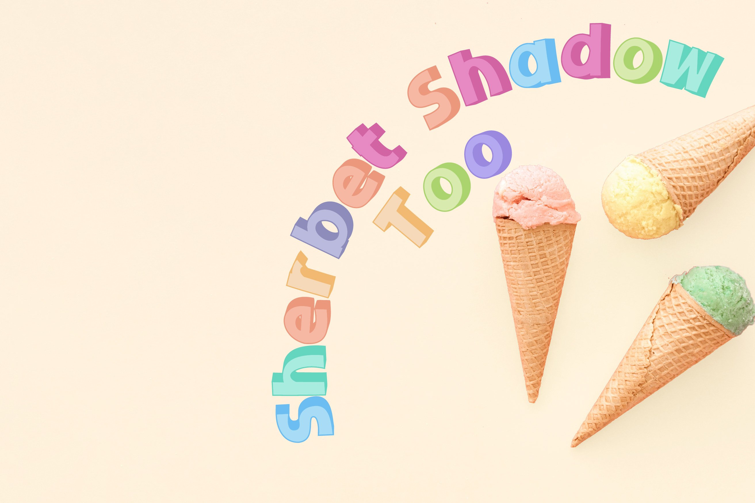 Sherbet Shadow SVG Font Duo example image 2