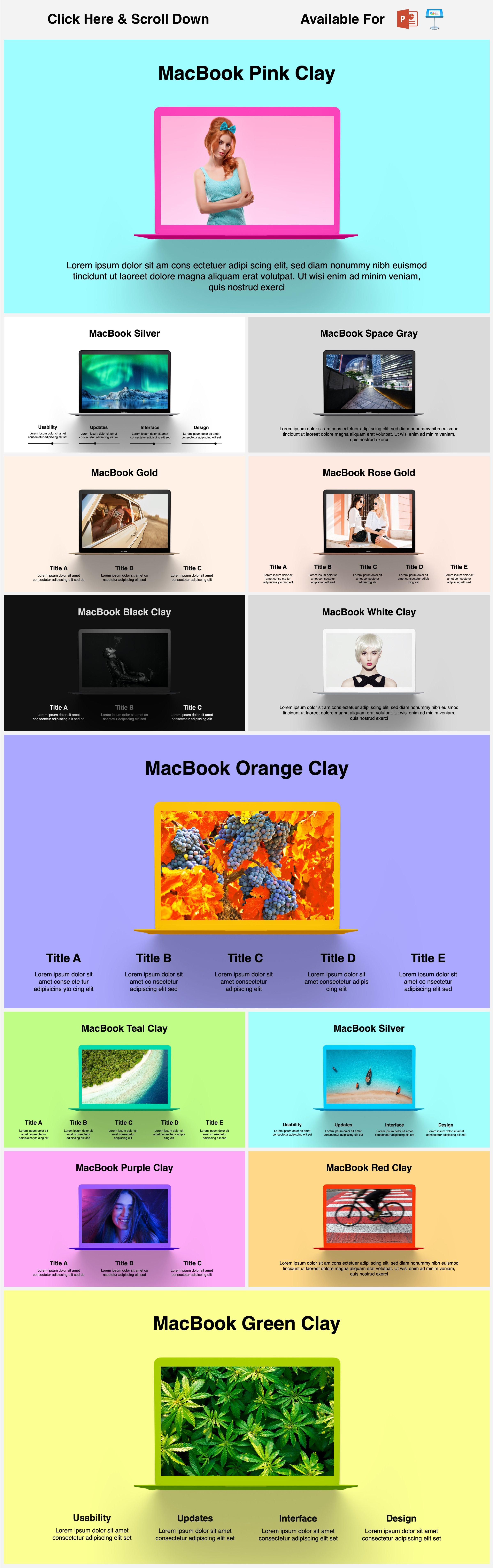 Animated Mockups Presentation Bundle. Infographic Templates. example image 11