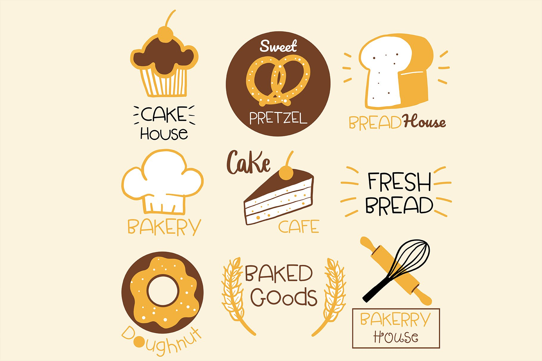 Homemade Bakery Handwritten- cute kid font Kawaii style! example image 3