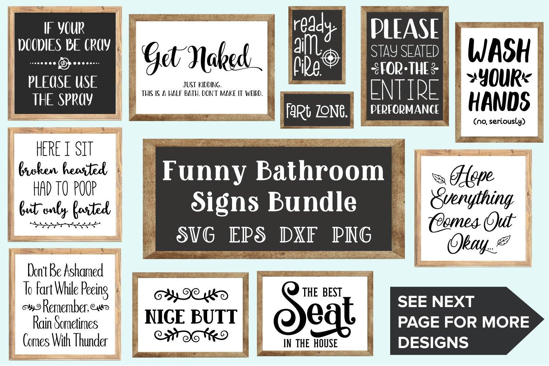 Bathroom Signs Bundle Svg Eps Dxf Png 112137 Svgs Design Bundles