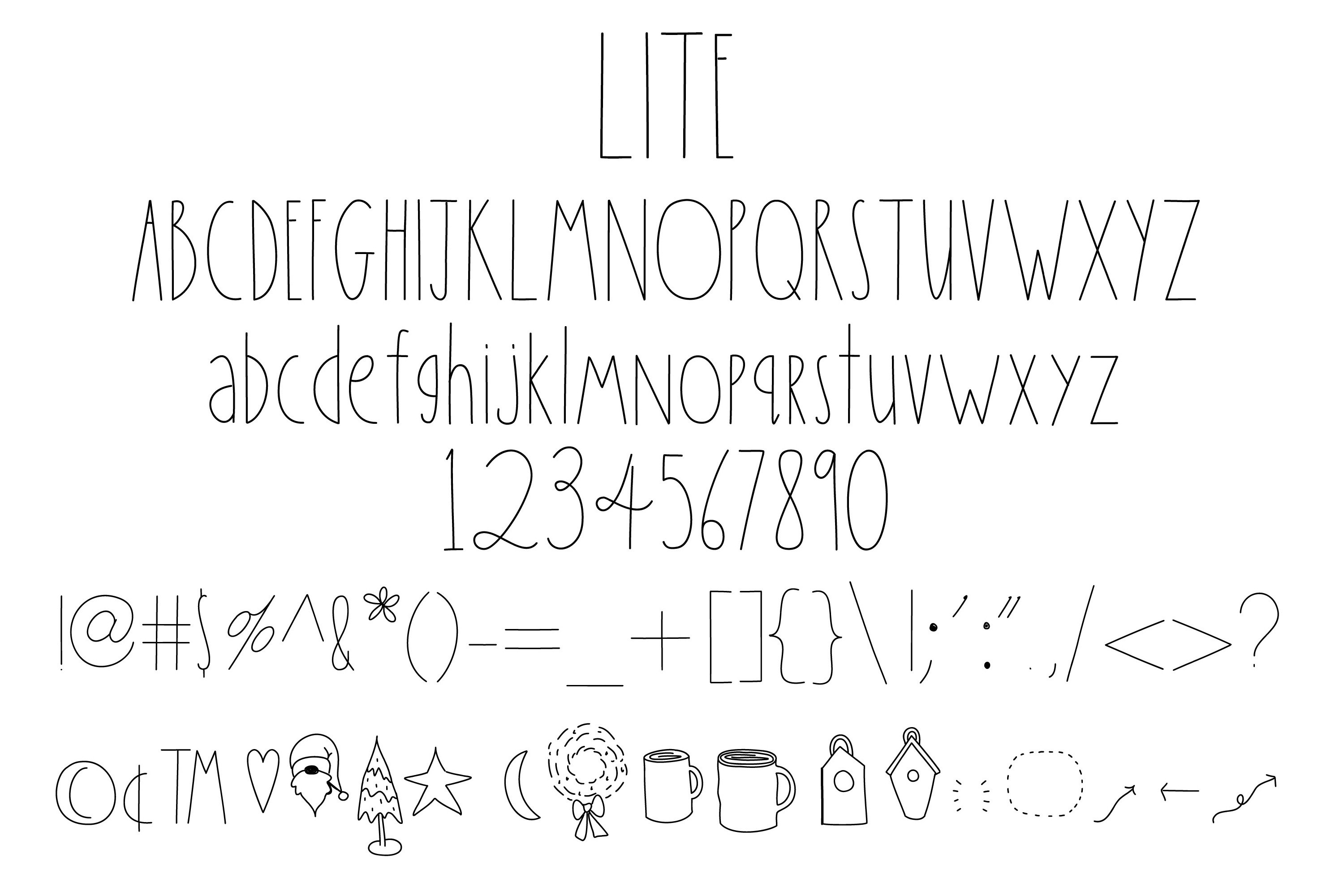 Simply Done Write Farmhouse 3 Weights Font Family & Dingbats example image 4