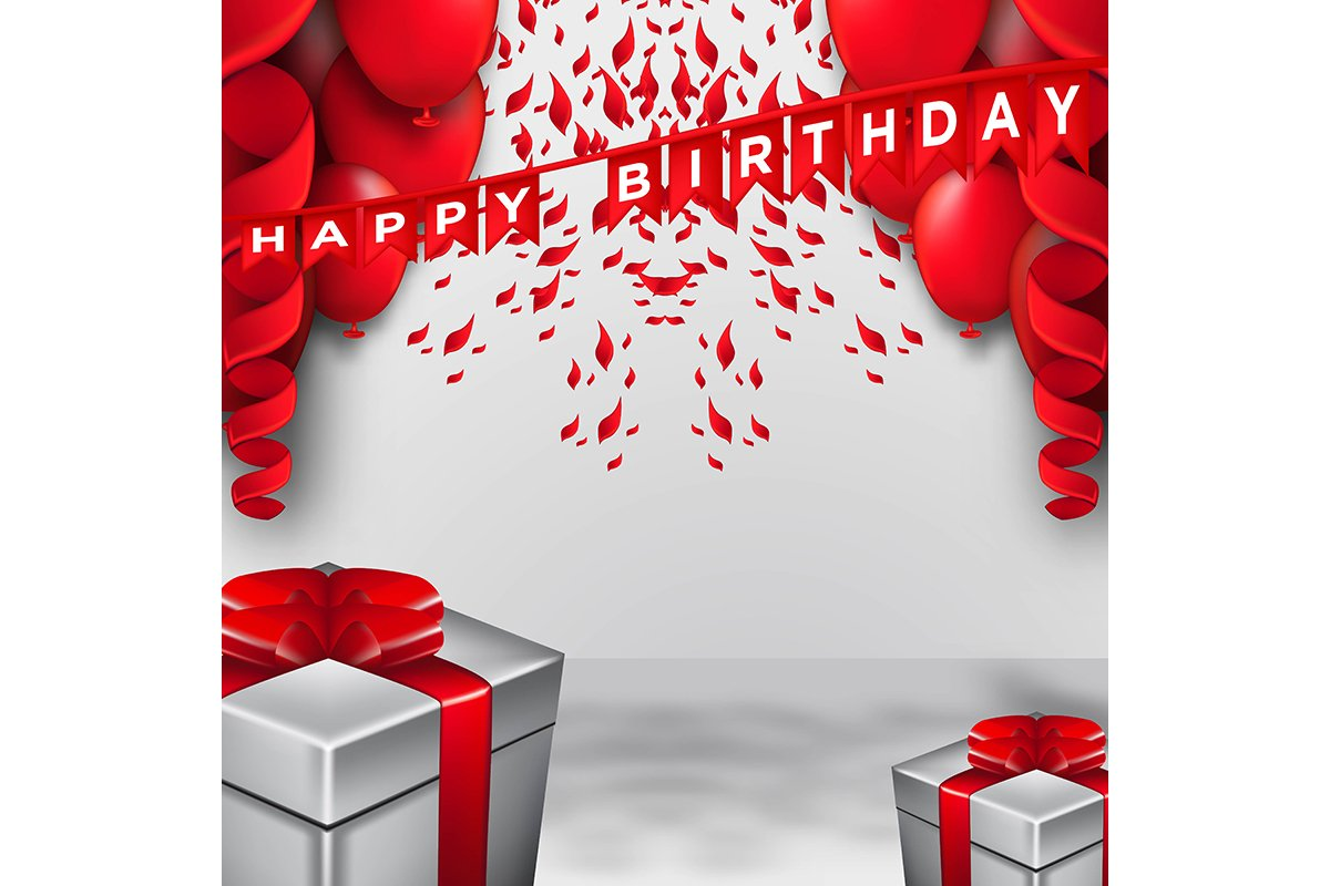 Happy Birthday celebration typography design for greeting ca example image 1