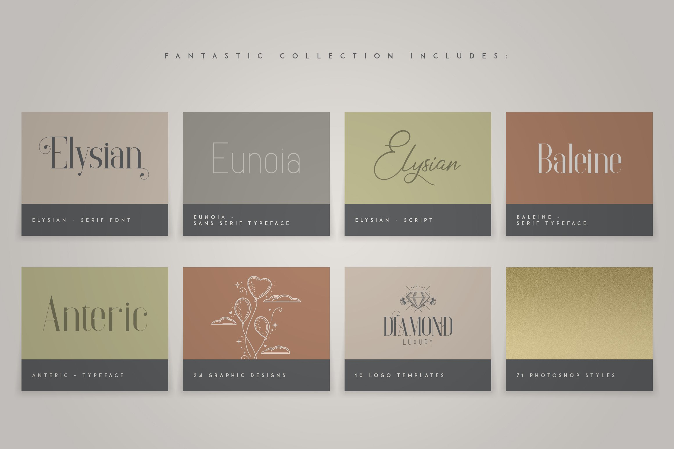 Fantastic Collection - Fonts, Logos example image 6