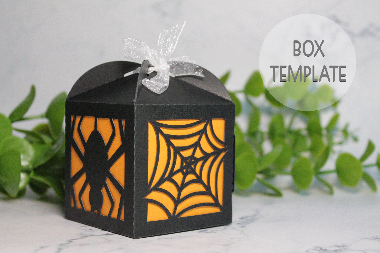 Halloween favor box template, Wedding favor box svg example image 1