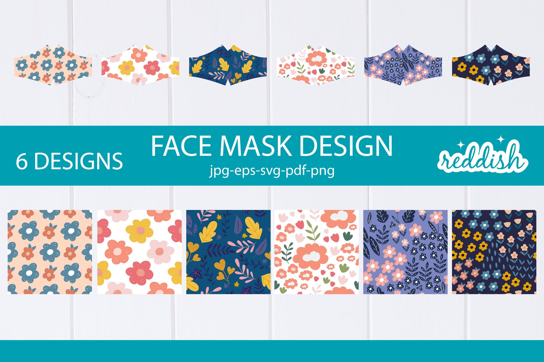 6 Face Mask Design 6 Mask Svgs And 6 Patterns Designs 855625 Fabric Crafts Design Bundles