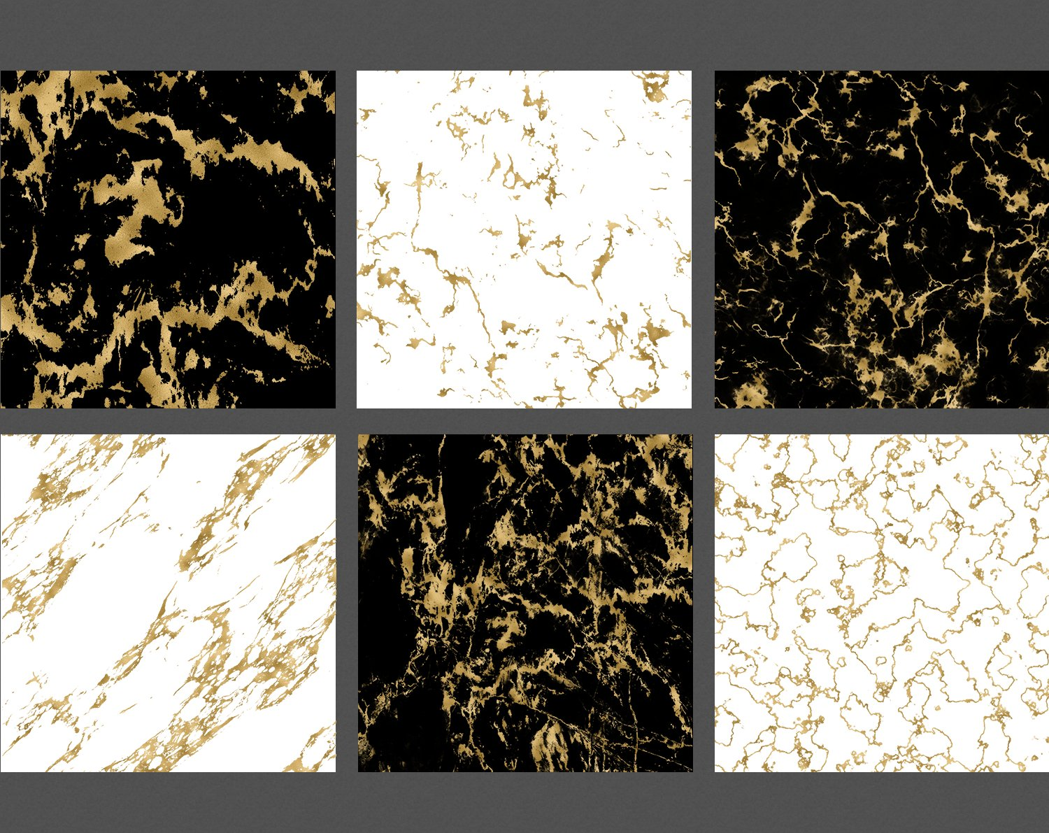 Gold Marble Veins Digital Paper Backgrounds Textures Pattern example image 4