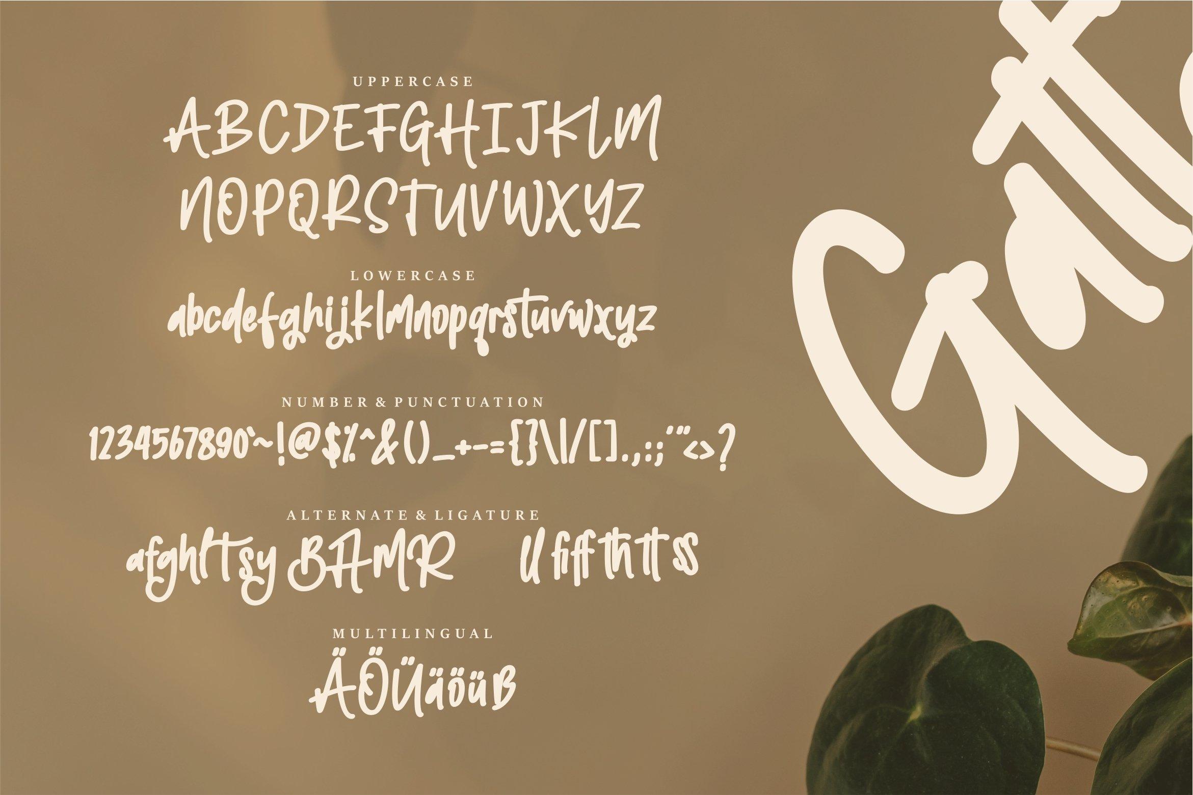 Gattayu - The Bold Beauty Font example image 2