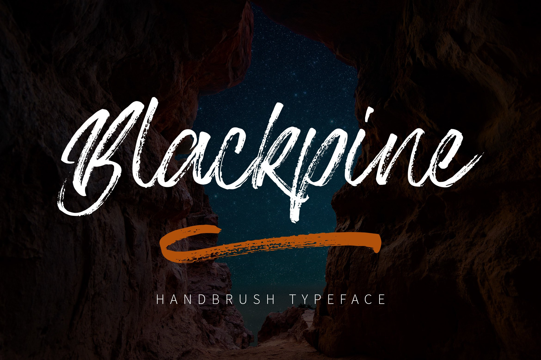Blackpine - Handbrush Typeface YR example image 1