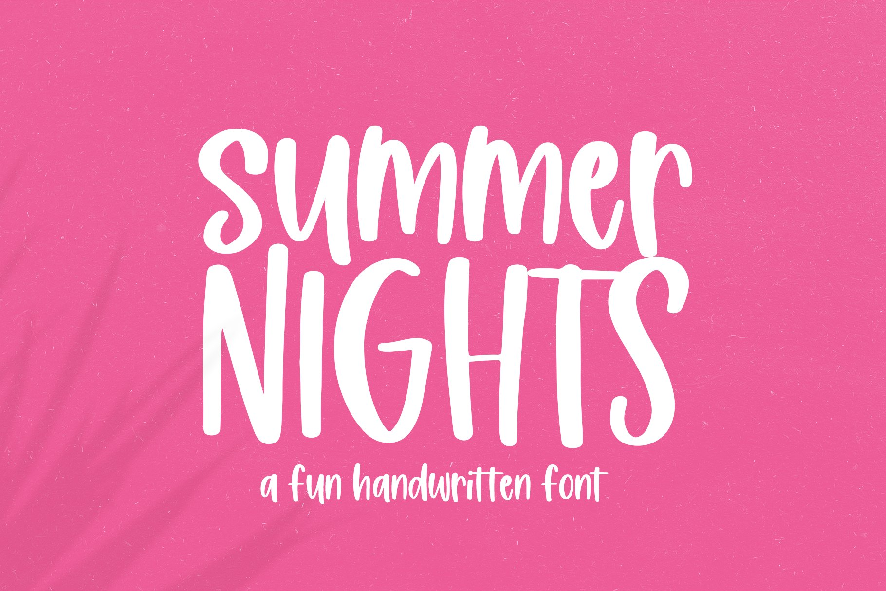 Summer Nights - A Fun Handwritten Font example image 1