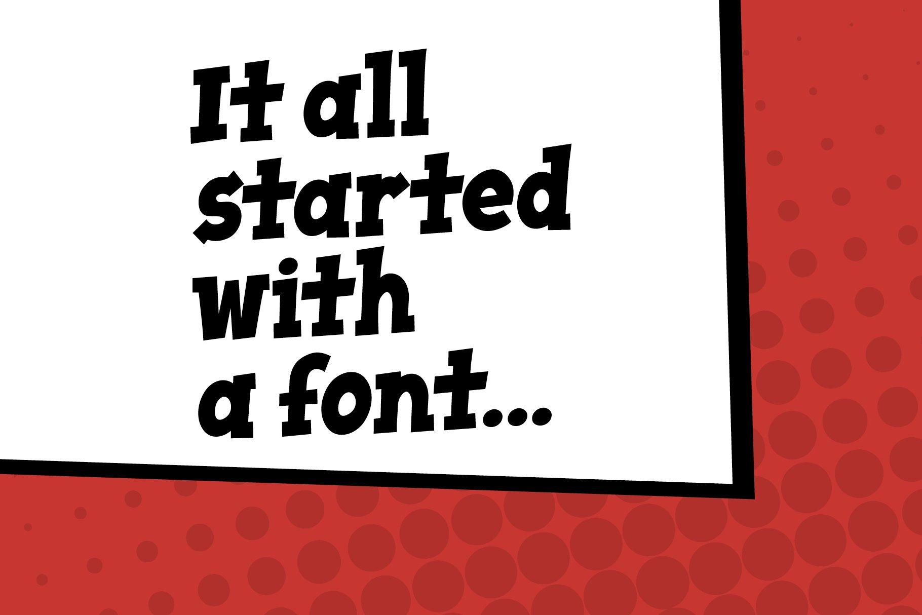 Wham! comic book cartoon font example image 6