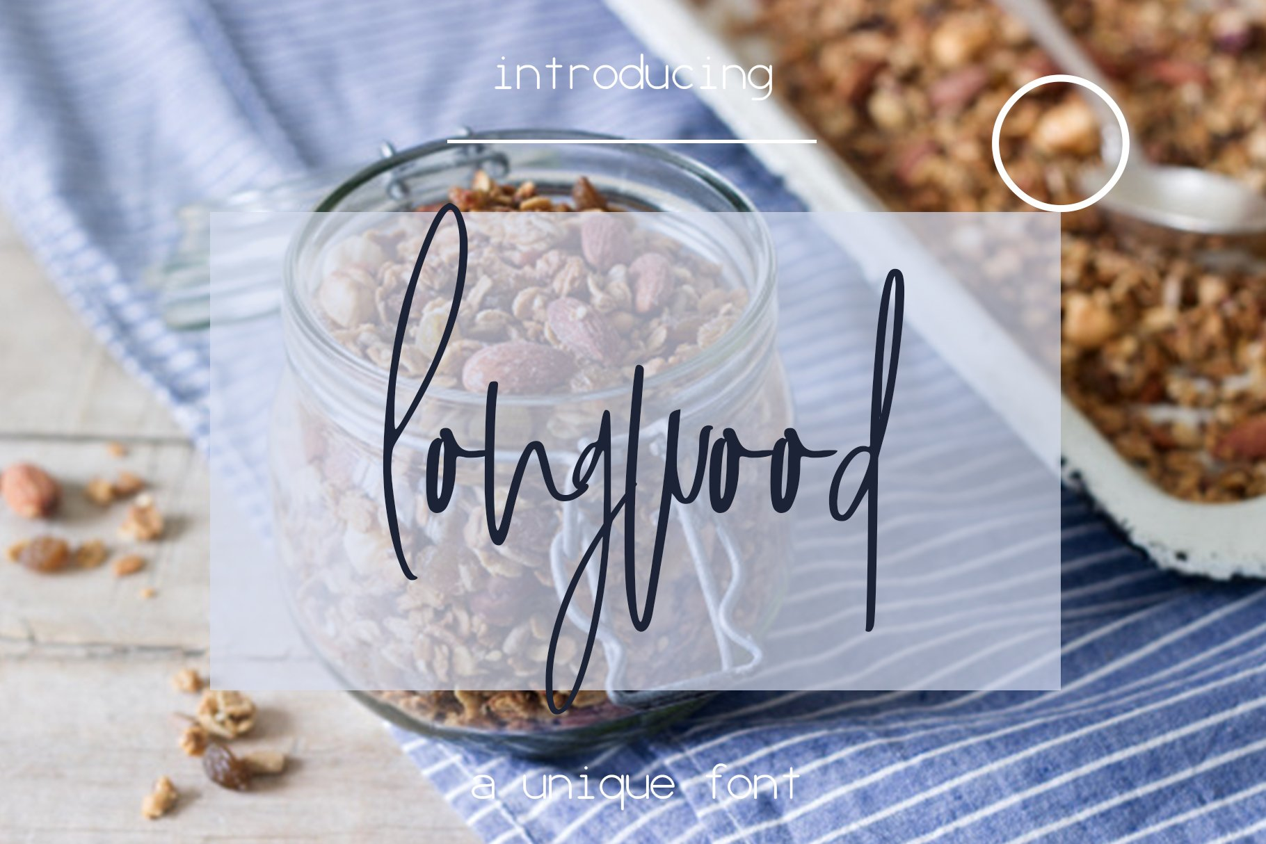 Longwood font example image 1