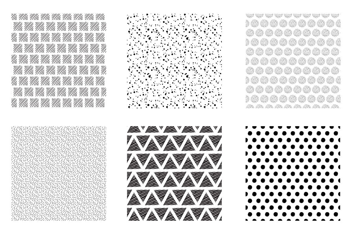 Geometric Lines Pattern collection, vector ai, eps and jpeg example image 3