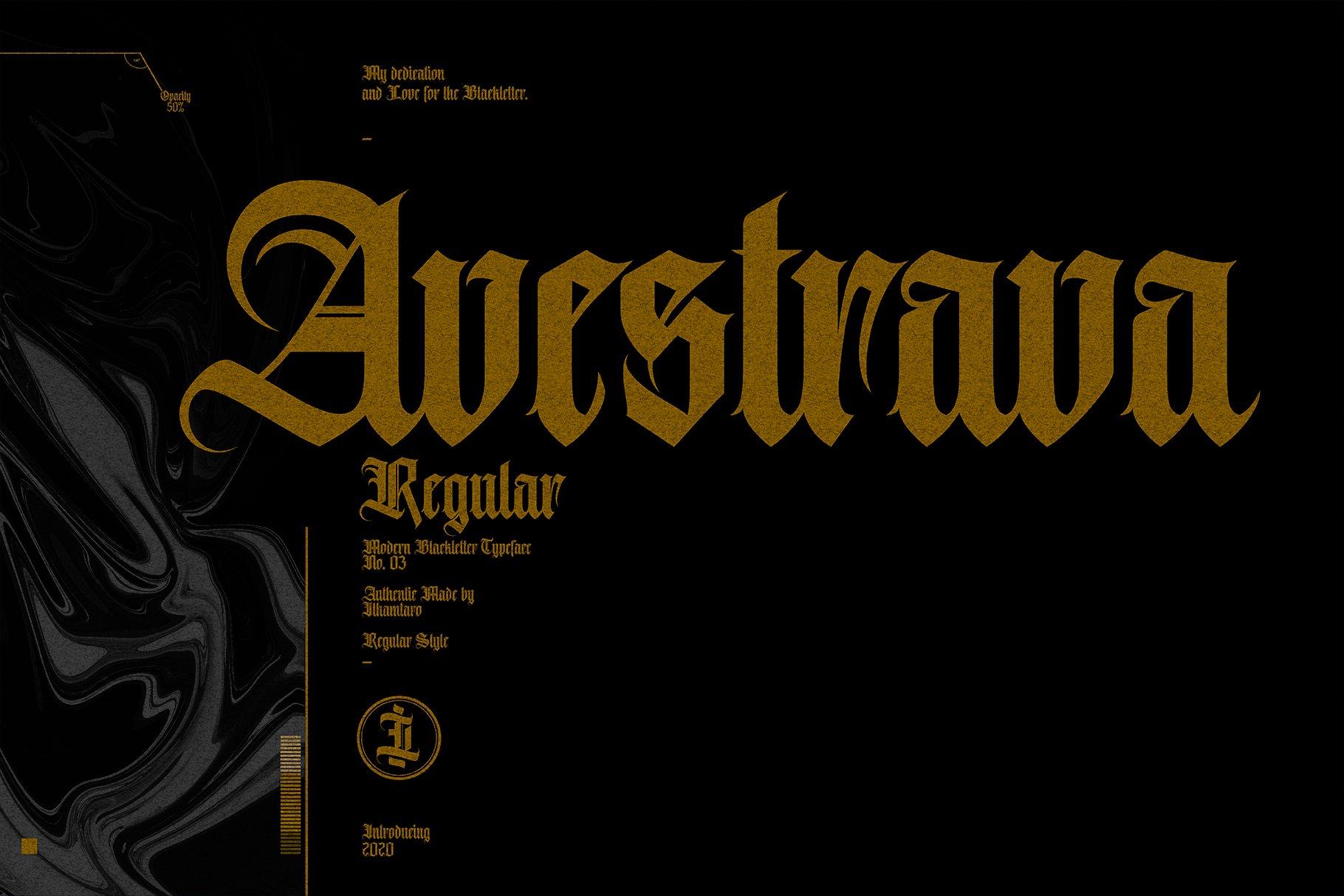 Avestrava Regular example image 1