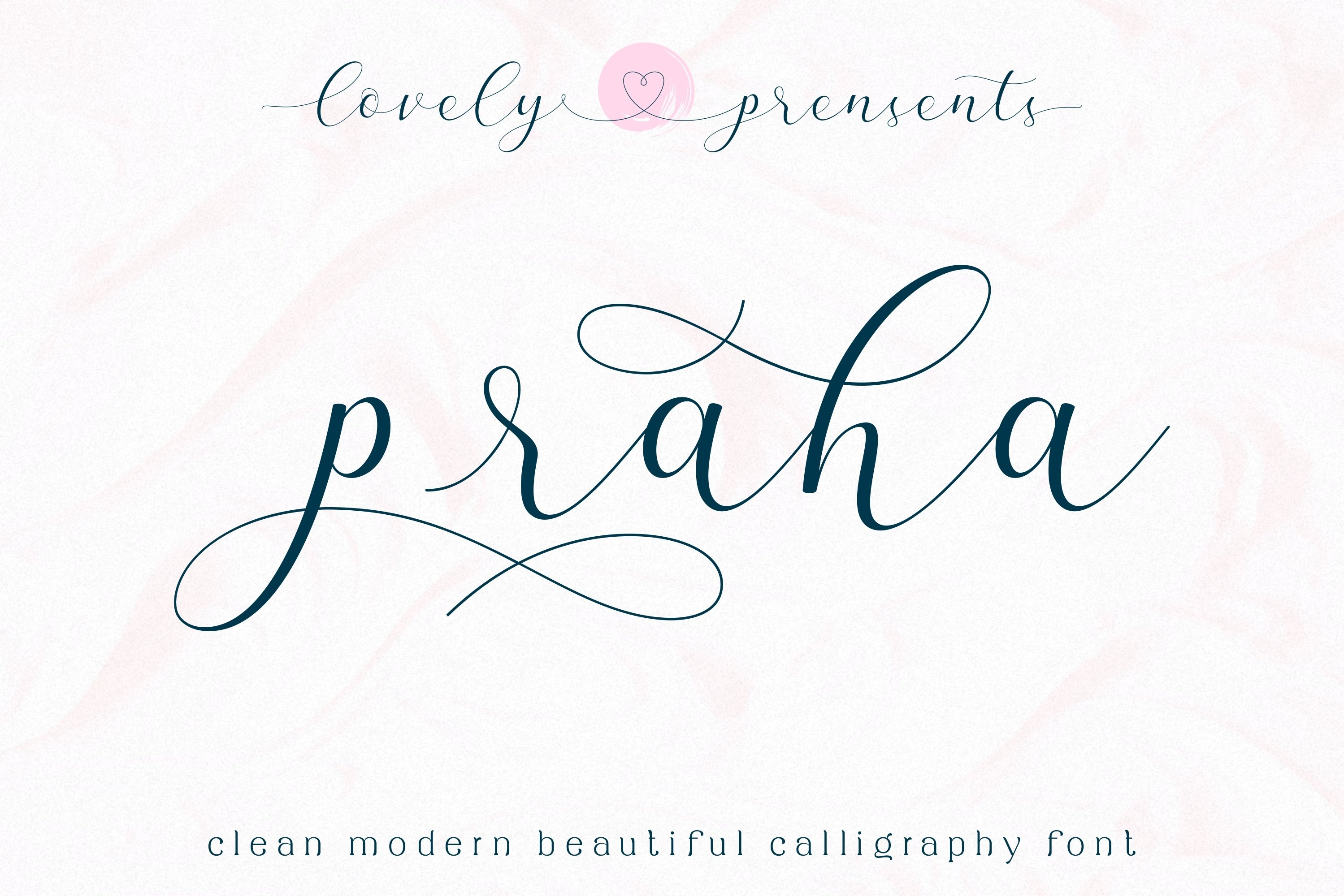 Praha - lovely clean modern calligraphy font example image 1