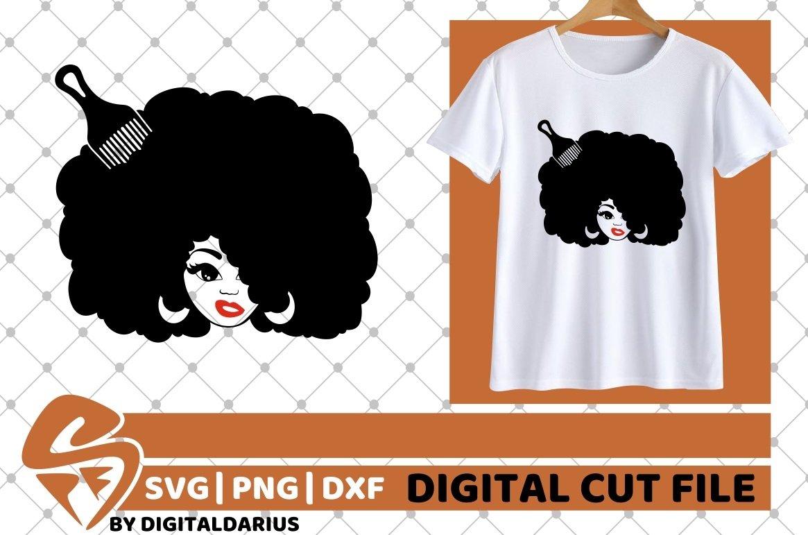 Black Woman svg, Afro Hair svg, Hairdresser svg, Melanin svg example image 1