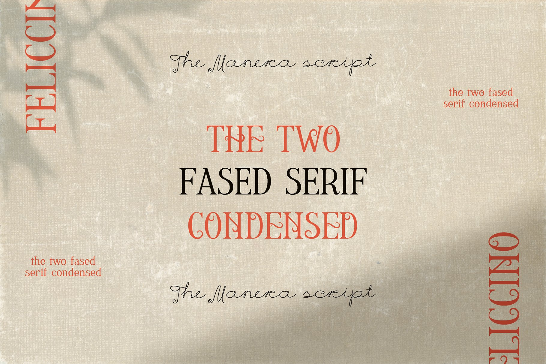Feliccino Manera Two Faced Font Duo example image 19