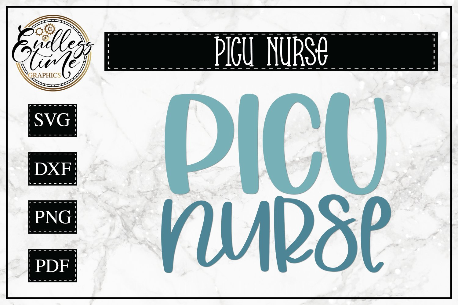 PICU Nurse SVG - An SVG For Pediatric Intensive Care Nurses example image 1