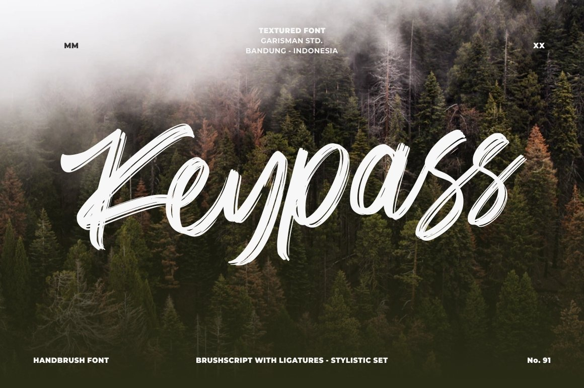 Keypass - Handbrush Font example image 2