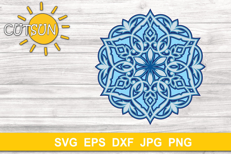 Download Mandala SVG | Layered Mandala SVG cut file 5 layers ...