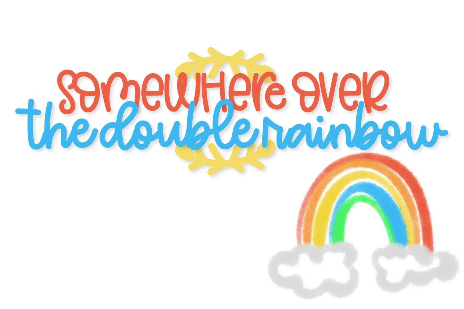 Double Rainbow - A Font Duo with Doodle Extras example image 3