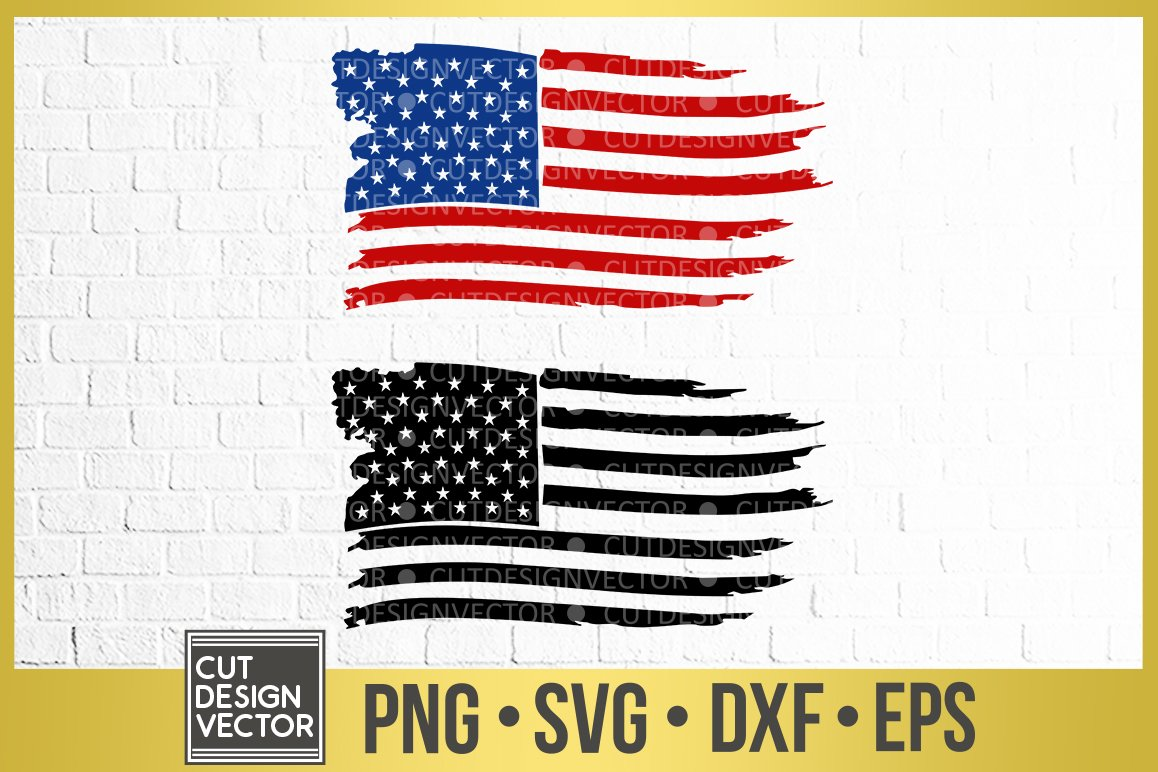 Distressed American Flag Svg Dxf Eps Png Digital File Layered American Flag Svg Dxf Png And Eps Cut File Usa Digital Clip Art Cricut Cut File Silhouette United States Cutting Files