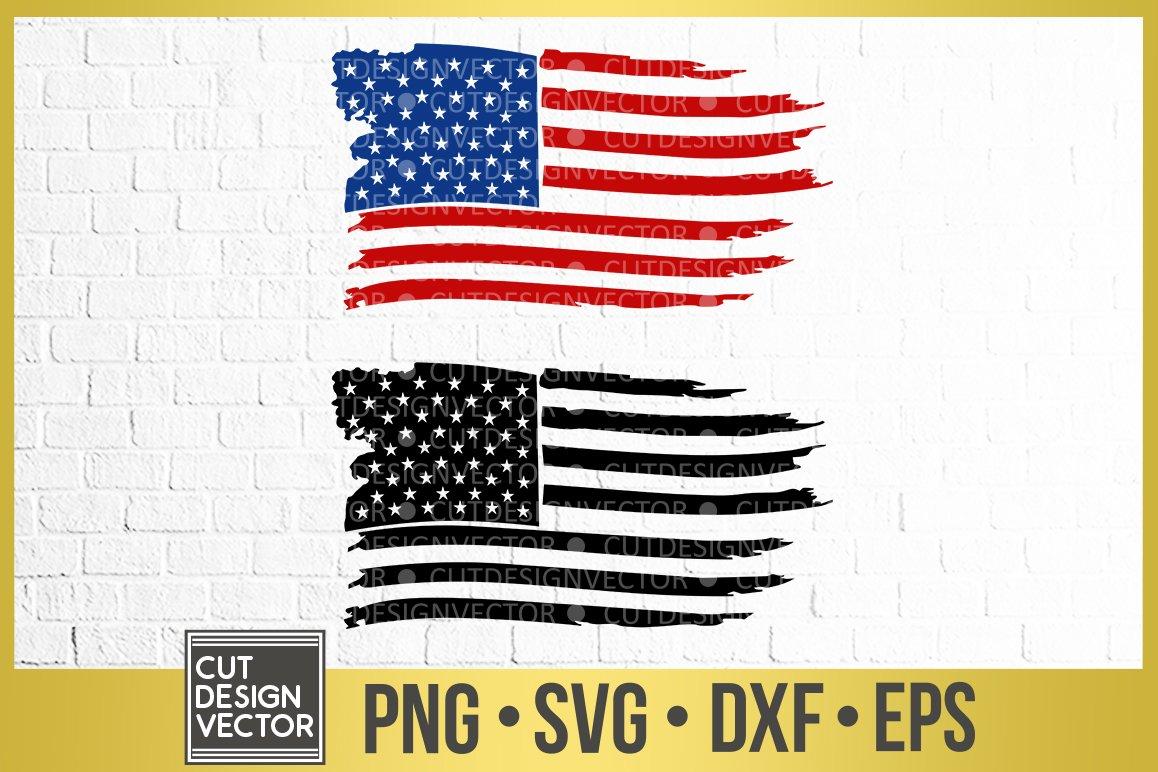 Distressed American Flag Svg 303603 Svgs Design Bundles