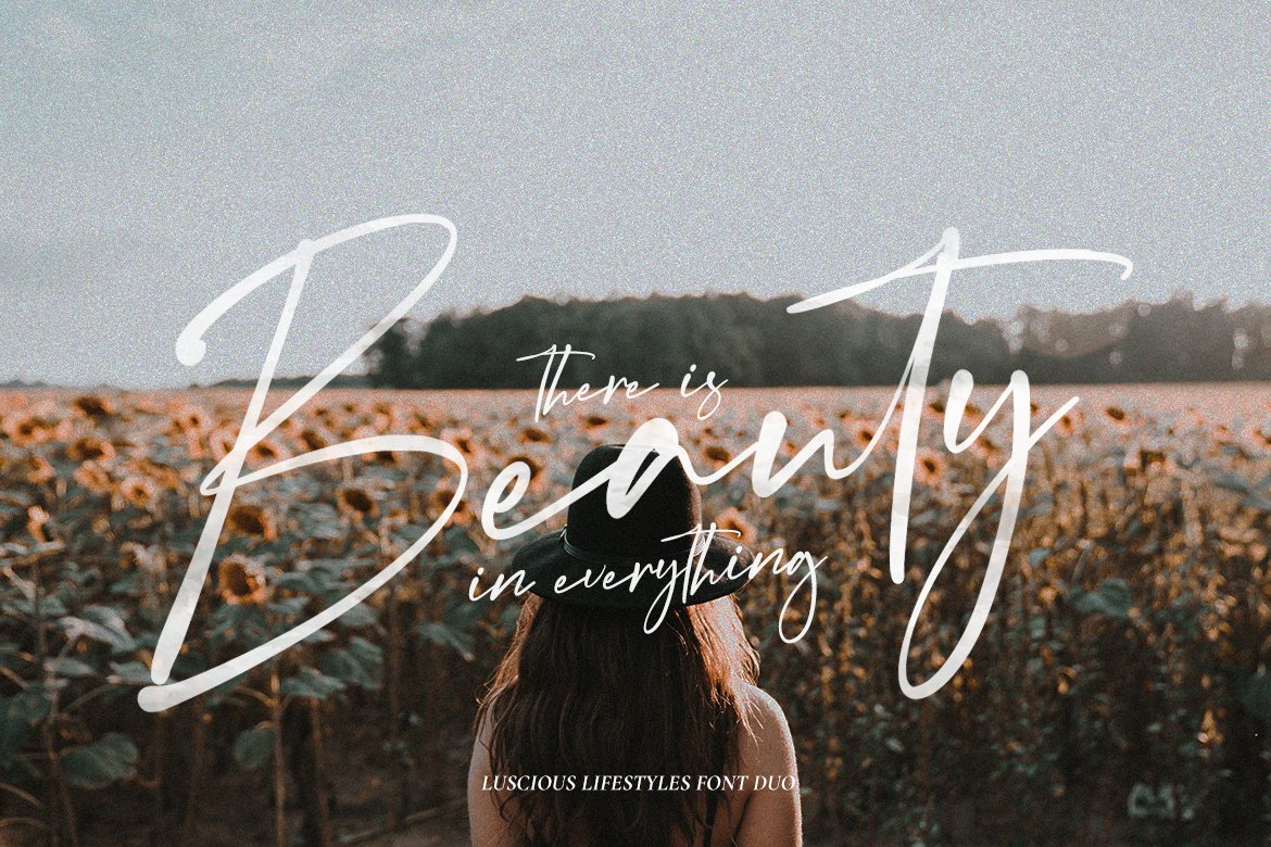Luscious Lifestyles Font Duo example image 2