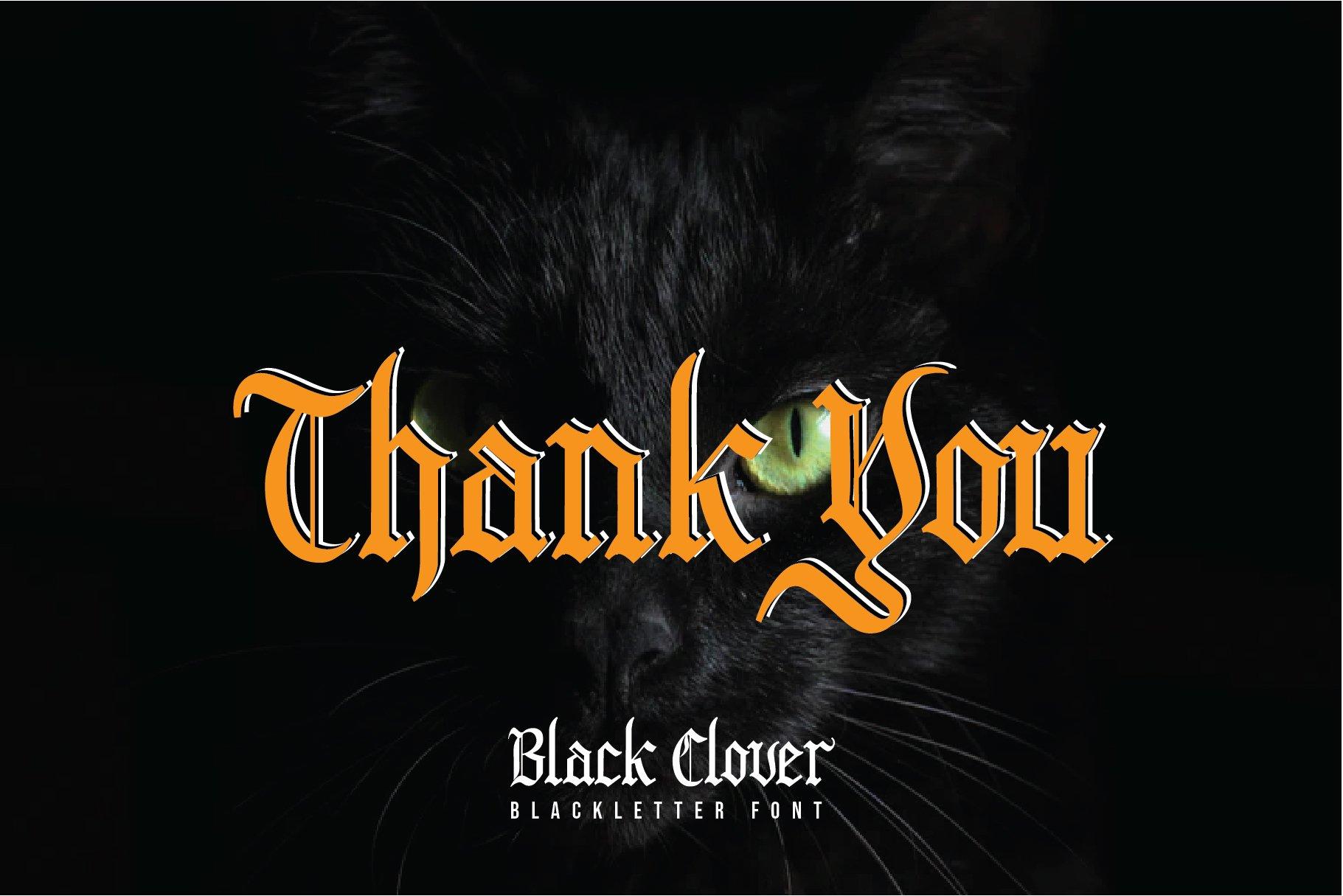Black Clover | Blackletter Font example image 6
