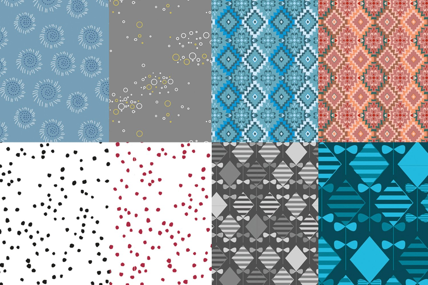 seamless pattern - flowers and ornaments example image 4
