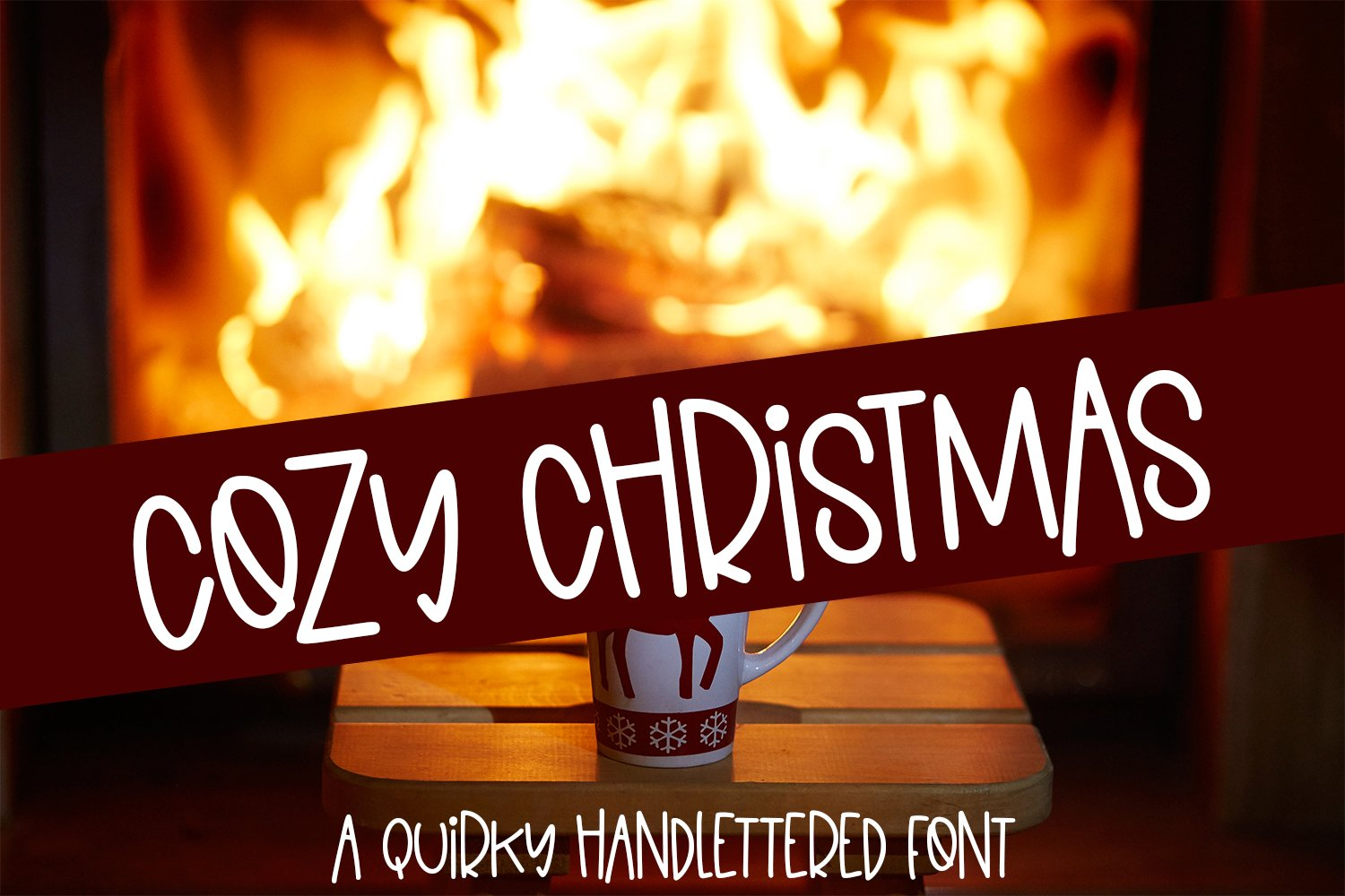 Cozy Christmas - A Quirky Hand-Lettered Font example image 1
