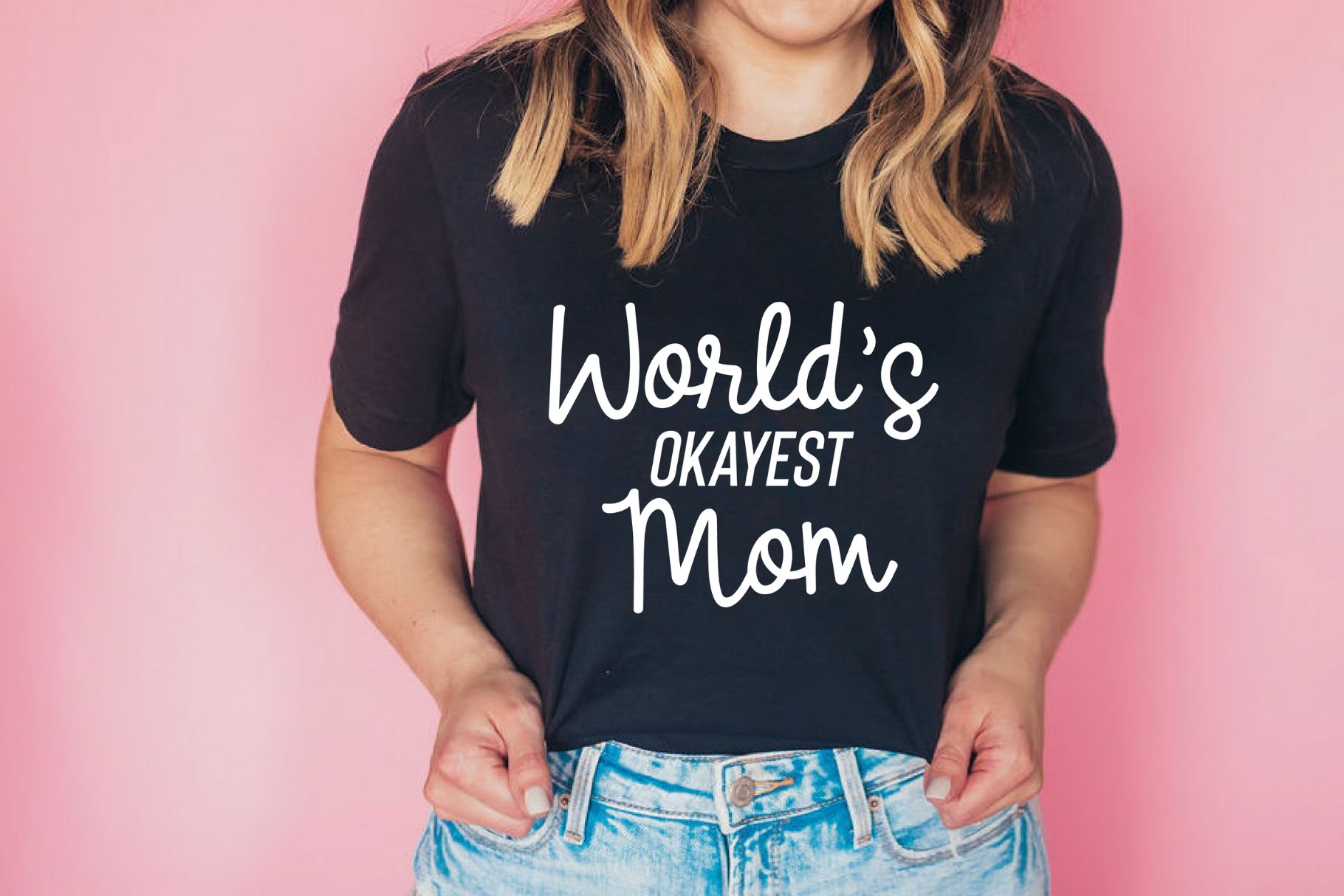 Worlds Okayest Mom Svg And Cut Files 417575 Cut Files Design Bundles
