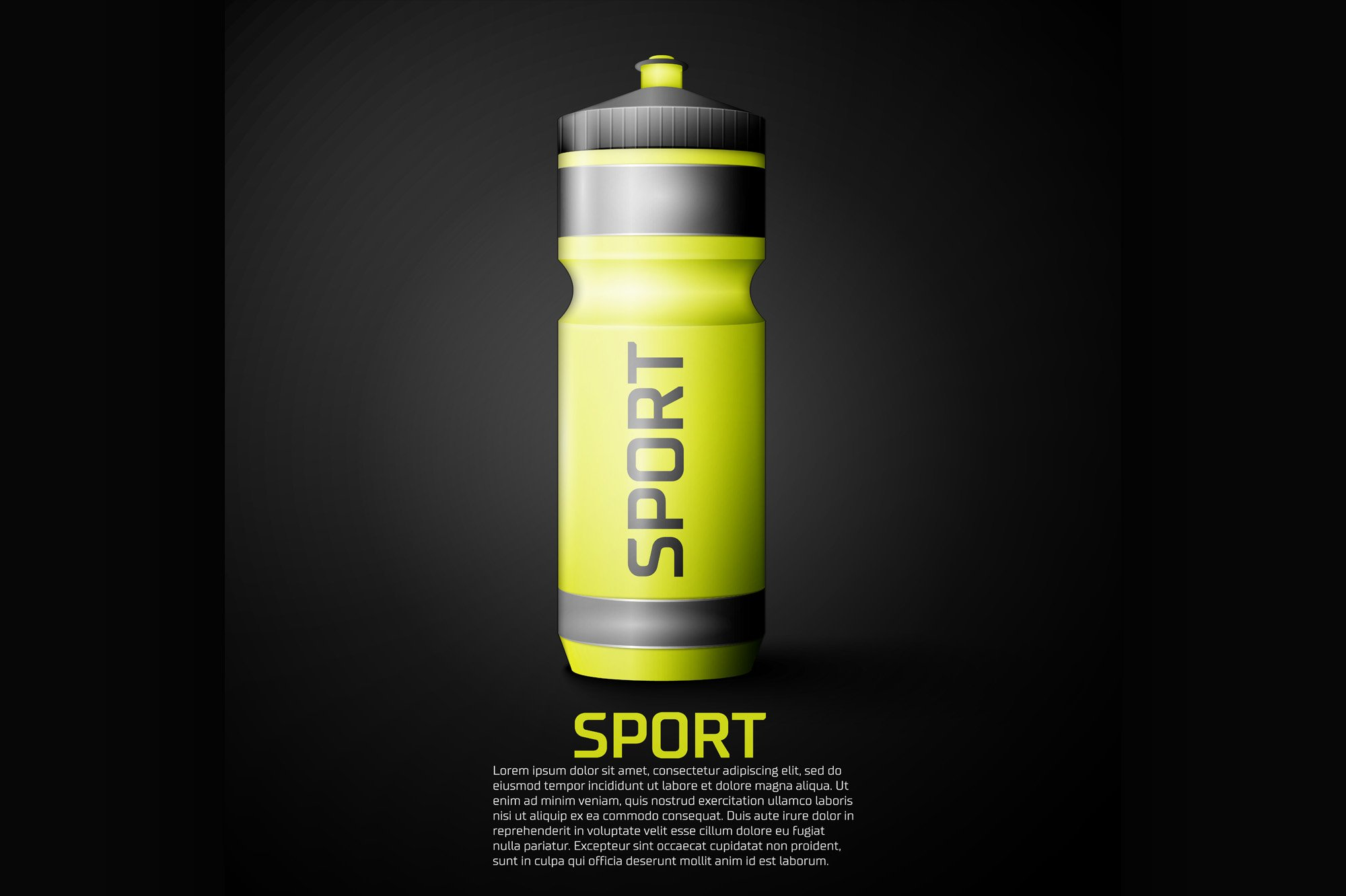 Sport nutrition drink bottle for fitness example image 1