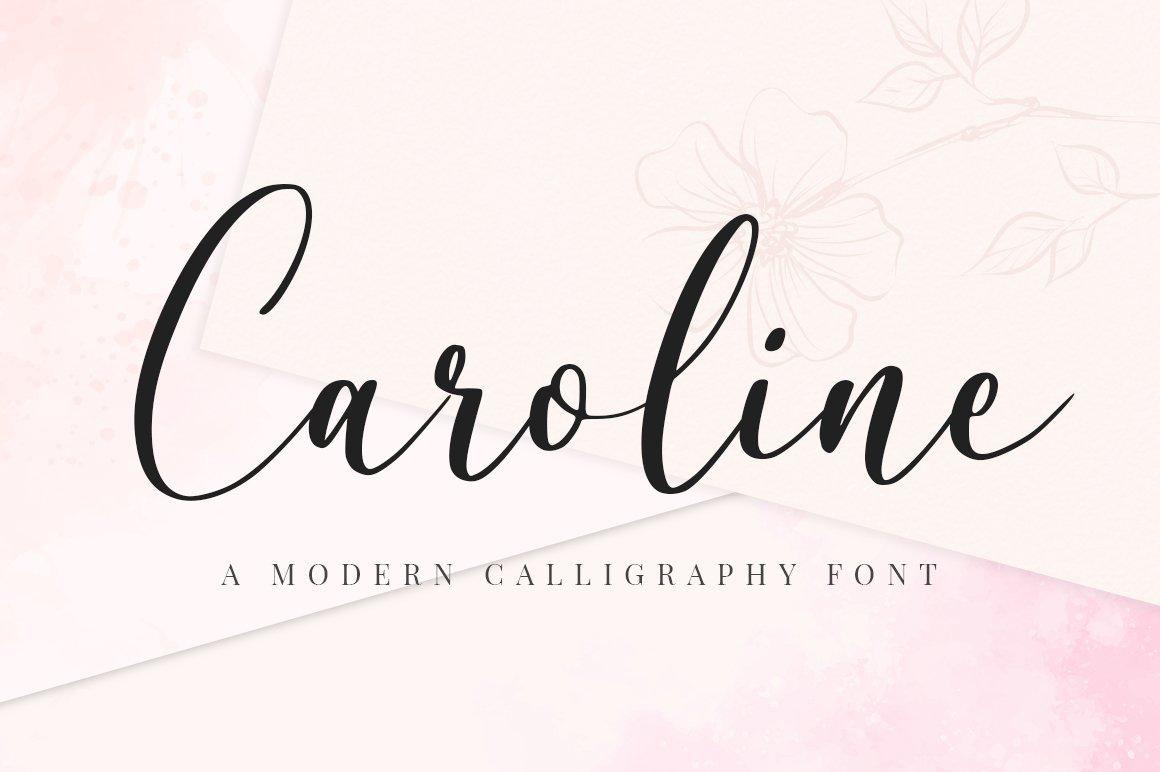 Caroline Script example image 1
